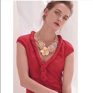 Anthropologie   C. Keer Torsade twisted blouse XS